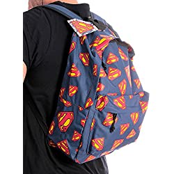 "Superman ""All Over"" Mochila Azul"