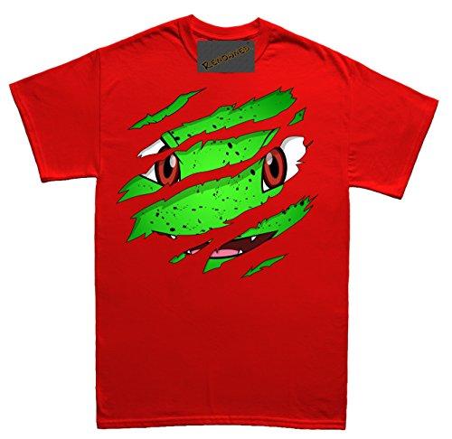 Renowned Green Lizard inside under torn through Unisex - Kinder T Shirt Rot