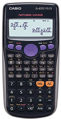 Casio FX-82ES - Calculadora, 80 x 162 x 13.8 mm, negro