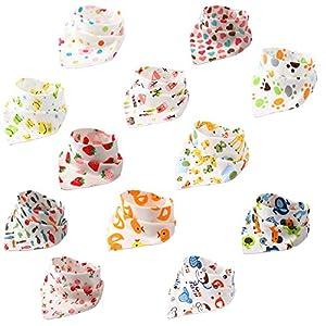 productos bebes: BBM 12pcs Baberos Bebe Baberos Bandanas Recién Nacido Bufandas de Algodón Diseño...