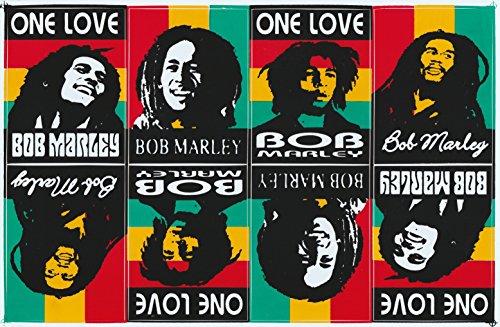 Bob Marley Aufkleber / Sticker / Aufkleberbogen 8-teilig