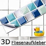 7er Set 25,3 x 3,7 cm Grandora Mosaik 3D Fliesenaufkleber W5189 selbstklebend Küche Bad...