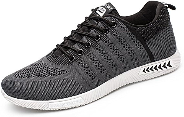Juleya Herren Sportschuhe Sneakers Ultra Leichte Laufschuhe Training Sport Turnschuhe Atmungsaktiv Knit Schnüren
