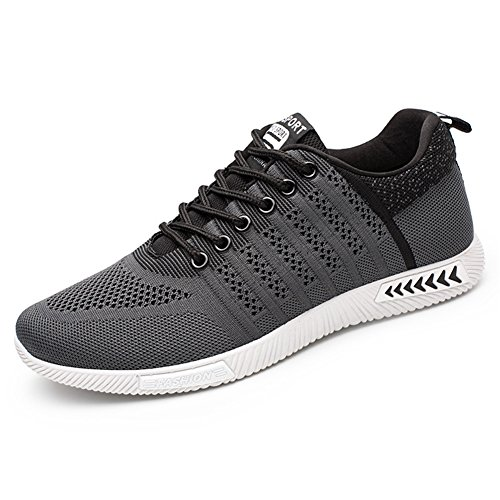 Juleya Hommes Trekking Baskets Casual Fitness Sneakers Extérieur Gris