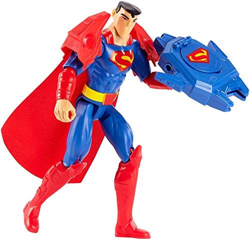 Mattel FBR09 - DC Justice League Deluxe Super-Blaster Superman, 30 cm mit (Superman Zubehör)