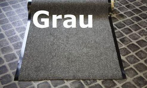 Meter Schmutzfangläufer Granat 90 cm Breit, grau - Granat-teppich