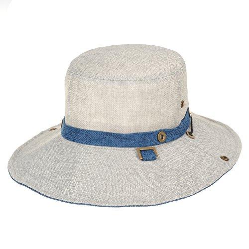 WITHMOONS-Baseballmtze-Mtzen-Caps-Boonie-Bush-Hat-Wide-Brim-Side-Snap-Mesh-Neutral-Color-KR8341