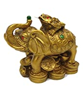 * An Elephant is a prominent symbol of strength, protection, wisdom, dignity, leadership qualities and courage. * The Wealth Frog, on the other hand, is well-known symbol of excellent wealth luck. * When these two auspicious animals are combined, the...