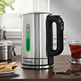 VonShef 13/348 Electric Kettle with Variable Temperature Control – 5 Different Temperature Settings – Cordless, Stainless Steel, 1.7L, 3000W