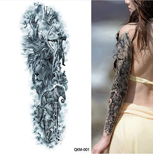 MRKAL 1 Blatt Große Große Zeus Antike Griechische Mythologie Temporäre Tätowierungen Voller Arm Bein Taille Kunst Tattoo Schönheit Krieger Aufkleber