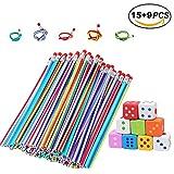 BESTZY 15 Soft Flexible Bendy Pencils avec 9 Gomme,Crayons Rigolos pour Fête d'enfants/Couleur Magic Crayons,Cadeau pour les Anniversaire Enfants