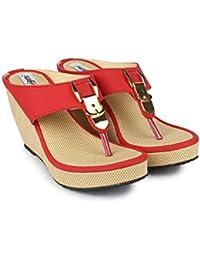 DIGNI Casual Comfortable Lace Up Women's Western Heel Open Toe Sandal For Women    Cutout Open Peep Toe High Platform... - B0795TD28J