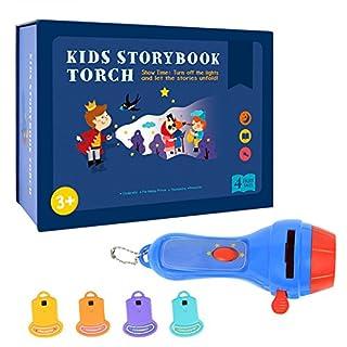 Awhao Kinder Luminous Projektor Spielzeug Baby Mini Theater Kinder Märchen Projektor Glow Taschenlampe Spielzeug Toy
