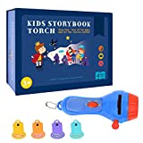 WaroomssKinder Torcia Proiettore Proiettore Mini Theater Film Proiettore Story Giocattolo con 4 storie di racconti per bambini Toddler Storia del buio