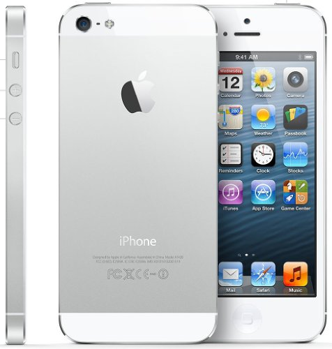 "Apple iPhone 5 Single SIM 4G 16GB Silver, White - Smartphones (10.2 cm (4""), 16 GB, 8 MP, iOS, 6, Silver, White)"
