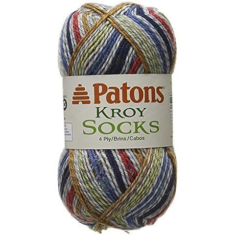 Patons Kroy Socks Yarn, Blue Striped by Patons