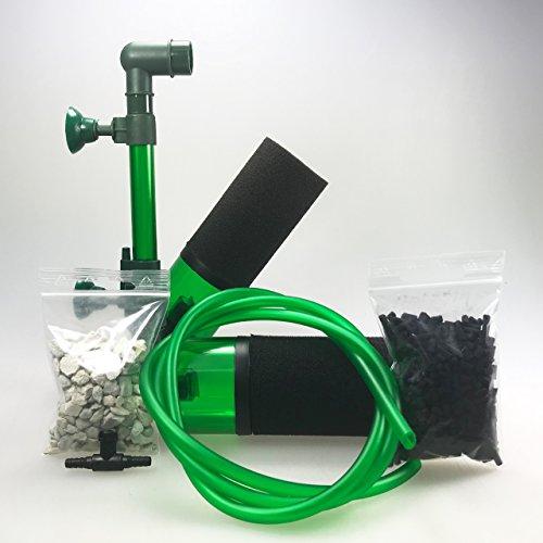Guemmer products Schwammfilter klein mit Bioaktiv-Kammern - Premium (100P)   Luftbetriebener Innenfilter für Aquarien