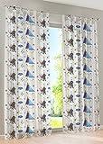 Disney Eiskönigin - Schlaufengardine Dekoschal Gardine Vorhang Schlaufenschal Deko fürs Kinderzimmer - 145 x 245 cm - Farbe: Weiss von Brandseller