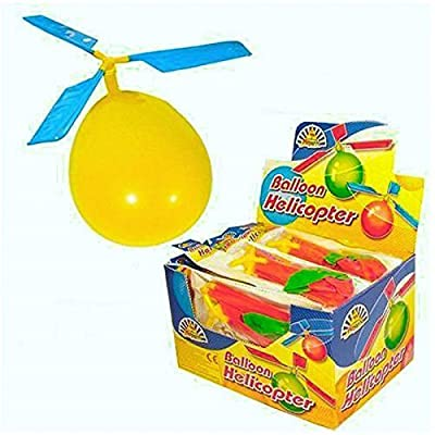2 x Childrens Kids Balloon Helicopter Flying Kit Party Bag Filler Indoor Outdoor Toy