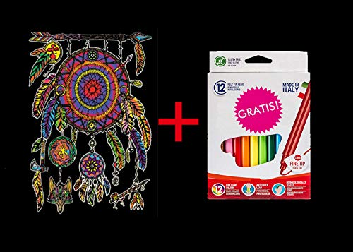 Terciopelo colorvelvet para colorear con caja de rotuladores -Atrapasueños