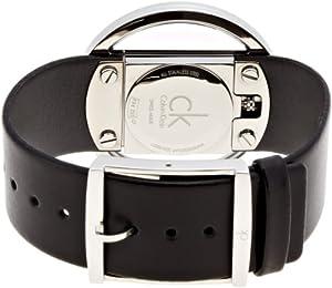 Calvin Klein Glam K9423107 - Reloj de mujer de cuarzo, correa de piel color negro de Calvin Klein