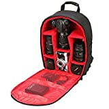 #4: Brain Freezer J DSLR SLR Camera Lens Shoulder Backpack Case for Canon Nikon Sigma Olympus Camera Red