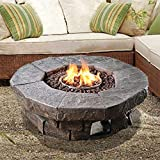 Peaktop - Outdoor Round Propane Gas Fire Pit