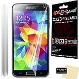 [Pack de 5] TECHGEAR Samsung Galaxy S5 / SM-G900 Series Premium Film de Protection Ultra Clair pour Écran LCD avec Chiffon de Nettoyage & Carte d'Application