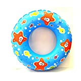 #4: KriTech Fish Print Inflatable Swim Ring - Blow Up Floating Tube Raft Tube for Swimming Pool Beach for Age 3-10 years - 50cm