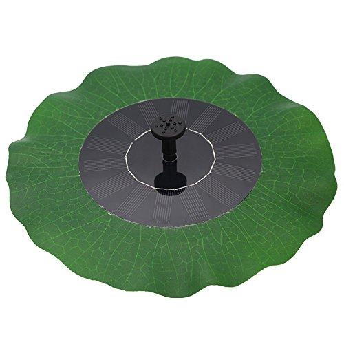 Egomall Wasserpumpe Brunnen Blatt Solar Schwimmender Lotus Teich-Garten Dekoration (Solar-sonne Hat)
