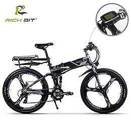 Eléctrico plegable para bicicleta de montaña para bicicleta MTB RT860 250W*36V*8Ah 26, doble suspensión 21speed Shimano dearilleur LG células de la batería doble freno de disco, color gris, color Magnescium, tamaño talla única, tamaño de rueda 26inches