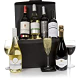 Luxuriöser Wein-Geschenkkorb - Sechs Flaschen ausgewählter Wein für den Connoisseur - Das perfekte Champagner- und Wein-Geschenk