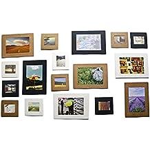 Malloom® 10Pcs 3Inch lindo papel Marco de la foto Panel de Obras álbum de clip cuerda Colgante