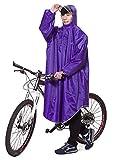 Icegrey Adulte Léger PVC Long Taille Capuche Pour Imperméable Faire du Vélo Pluie Cape de Poncho à Manches Violet Clair