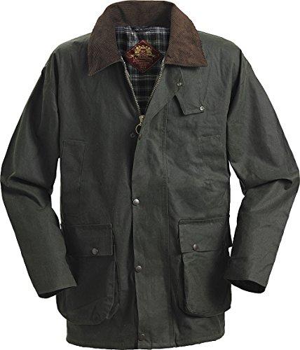 Royal Spencer Englische Herren-Wachsjacke mit geradem Schnitt in grün