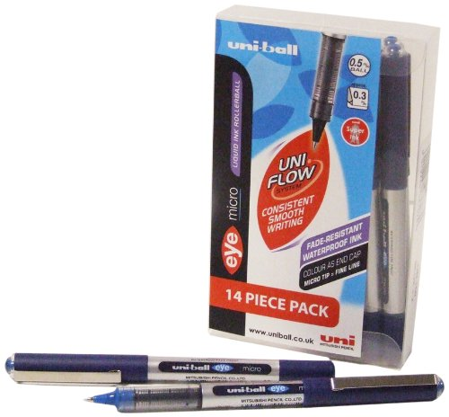 uni-ball Eye Micro UB150 Tintenroller 14 Stück blau
