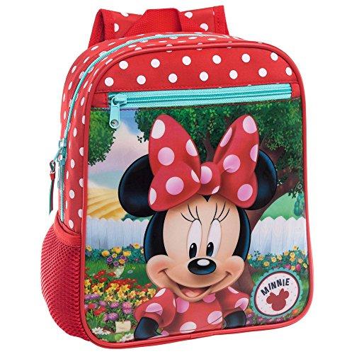 Disney 4422151 Minnie Garden Zainetto per Bambini, Poliestere, Rosso, 28 cm
