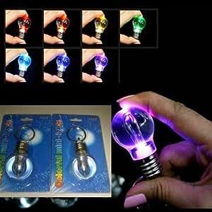 Lampe de Poche Porte-Clefs (Ampoule Multi Couleur)