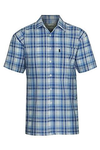 Champion Radstock 100% Cotton Premium Quality Short Sleeve Check Casual Shirt Plus Size (M - 40