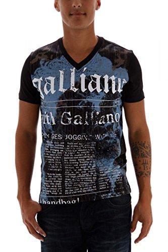 john-galliano-camiseta-para-hombre-negro-l