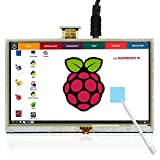 Elecrow 5 Zoll HDMI LCD 800*480 Hoch Auflösung Touchscreen Monitor für Himbeer Raspberry Himbeer Pi 3B /A+/B+/2B