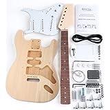"""Rocktile DIY Strat Bausatz E-Gitarre (""""Do-it-yourself"""" E-Gitarre Bausatz, Strat-Style, Korpus: Linde, Hals: Ahorn geschraubt, Griffbrett: Palisander)"""