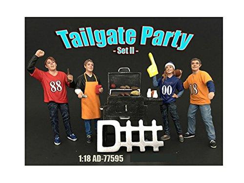 American Diorama Tailgate Party Set II BBQ 4 Modell Figuren 1:18 AD-77595