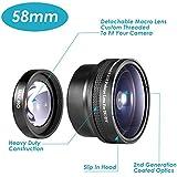 Neewer® 58mm Lente de Ojo de Pez+ Ángulo Ancho AF 0,21X para Canon Nikon Sony Pentax Olympus y otras cámaras DSLR con rosca de filtro de 58mm