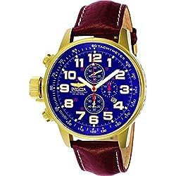 Invicta Reloj Cronógrafo de Cuarzo para Hombre con Correa de Cuero – 3329