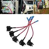Adaptador para tapón de fusibles de coche de 12 V con aplicación de mini ATM, soporte para fusibles de cuchilla de soporte, soporte para caja de fusibles estándar