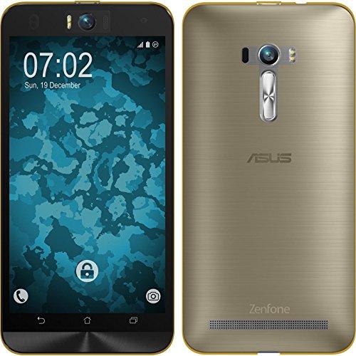 PhoneNatic Case für ASUS Zenfone Selfie Hülle Silikon Gold, 360° Fullbody Cover