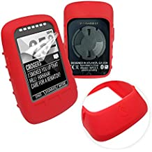 Tuff-Luv Silicone Gel Skin Case & Screen Cover for Wahoo Elemnt Bolt - Red