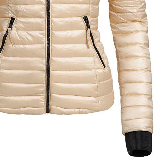 Navahoo Damen Jacke Übergangsjacke Steppjacke Kimuk (vegan hergestellt) 17 Farben + Camouflage XS-XXL Gold