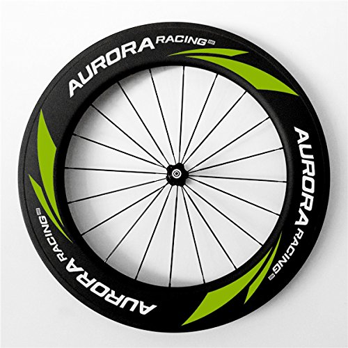 Aurora Racing Best 88C-23mm Road Bike con ruote copertoncino carbonio UD con powerway R36Hub e Pilar aero raggi - 130 Mm Mozzo Posteriore